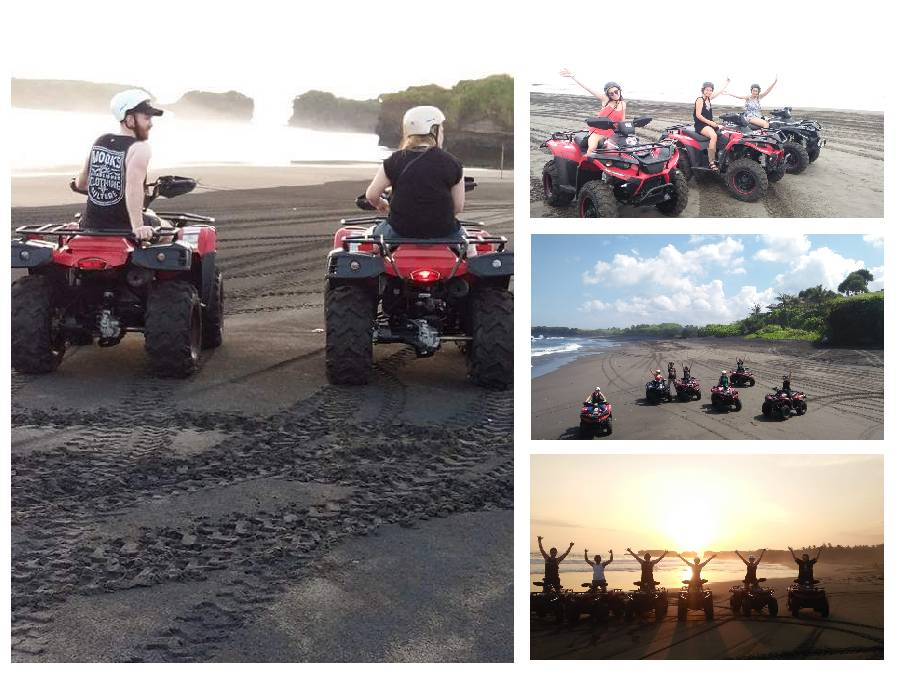 Bali ATV Ride On The Black Sandy Beach