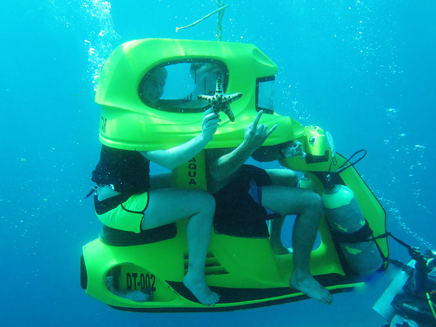 Bali Safest Driver Tour Underwater Scooter