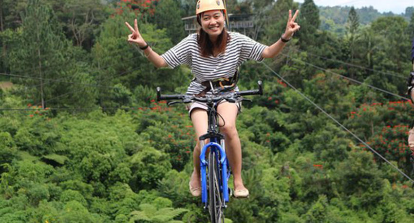 Bali Activities Riding a Bike in the Air