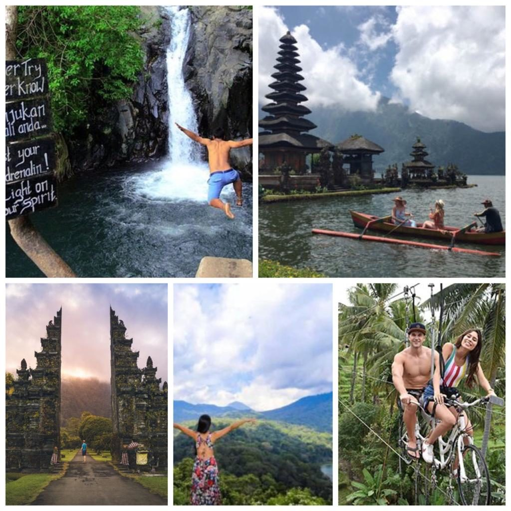Sky Bike Adventure Combine with Aling - Aling Waterfall and Ulundanu Beratan Temple
